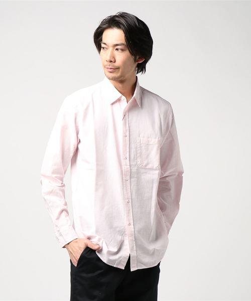 【BLUE STANDARD】リネンミックス長袖シャツ