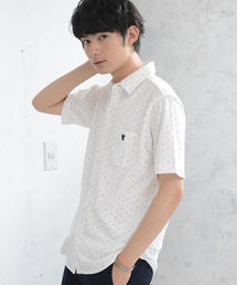 【着る消臭元】鹿の子カットドットシャツ