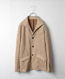 MORGAN HOMME(モルガンオム)のジャージースウェードスタンドジャケット(テーラードジャケット)