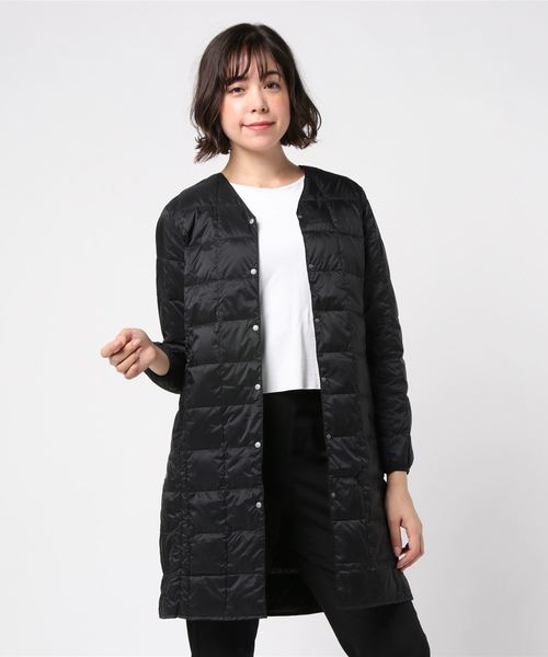 ∴【TAION/タイオン】V NECK LONG DOWN JACKET W101LONG