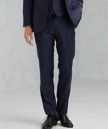 [ カノニコ ] CANONICO サージ 無地 HX ノープリーツ セットアップ スーツ パンツ