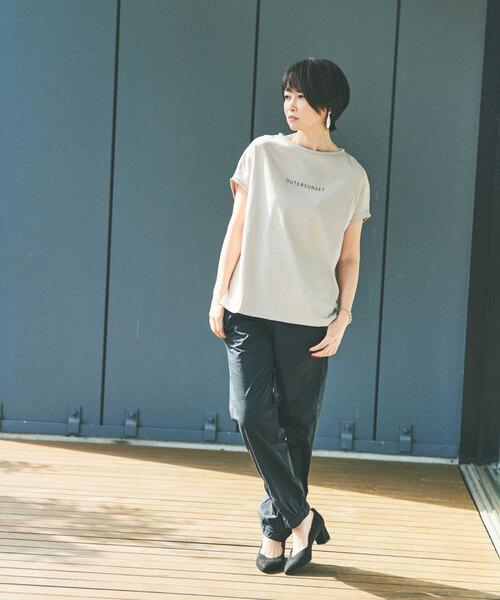 [ 別注 アウターサンセット ]SC OUTERSUNSET × GLR ロゴ フレンチ スリーブ Tシャツ