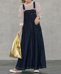 ■プレミアムデニムコレクション■デニムサロペットスカート