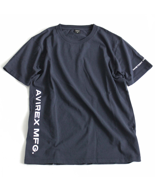 "【WEB&DEPOT限定】AVIREX/アヴィレックス/ 米綿 クルーネック Tシャツ サイドロゴ""AVIREX MFG""/ US COTTON CREW NECK T-SHIRT SIDE LOGO 'AVIREX MFG'"
