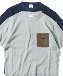 【着る消臭元】ワッフル布帛ポケットTシャツ