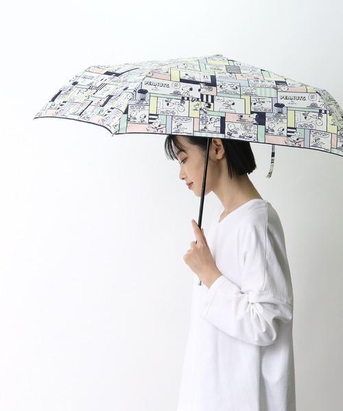 ピーナッツ雨晴兼用 折りたたみ傘 スヌーピー OPSN OGW ・・  アンブレラ