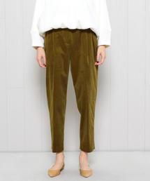 <H>CORDUROY TUCK TAPERED PANTS/パンツ
