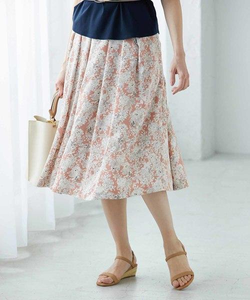 独特の上品 【セール】【SS/S/Lサイズあり】フラワープリントスカート(スカート) ROPE