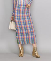<TAN>ヴィヴィッドストライプスカート ◆