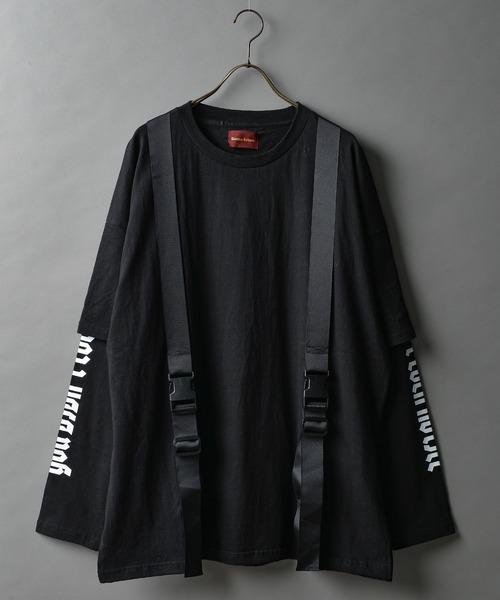最大の割引 DankeSchon/ダンケシェーン/ニューストラップロングスリーブTシャツ, アジアン家具 Q-STYLE 63711b15