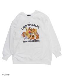 【Disney/ディズニー/チップとデールの大作戦 レスキュー・レンジャーズ】裏毛プルオーバーホワイト