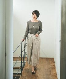 [ 別注 アウターサンセット ]SC OUTERSUNSET × GLR ウエスト ツイスト スカート