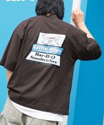 AMERICAN SHOP SIGN/アメリカンショップサイン 別注 オーバーサイズ プリント半袖カットソーグレー系その他3