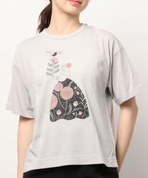 ∴【GRANDMA MAMA DAUGHTER / グランママドーター】10周年 プレミアムTシャツ TC 2035041グレー