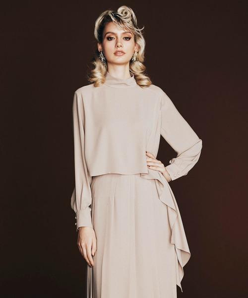 DOUBLE STANDARD CLOTHING(ダブルスタンダードクロージング)の「Sov. / HIGH MULTI DOUBLE STRETCHI(シャツ/ブラウス)」|ベージュ