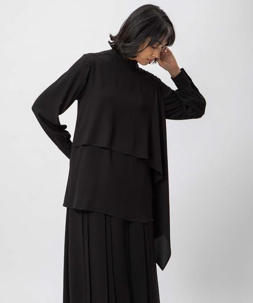 DOUBLE STANDARD CLOTHING(ダブルスタンダードクロージング)の「Sov. / HIGH MULTI DOUBLE STRETCHI(シャツ/ブラウス)」|ブラック