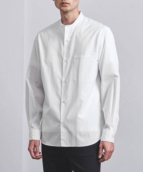 <UNITED ARROWS> トーマスメイソン バンドカラーシャツ