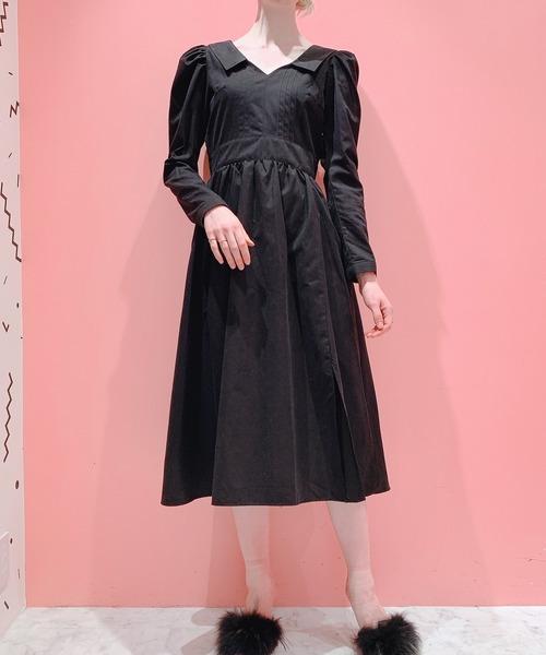 Pain(ペイン)の「ピーチピンタックドレス(ワンピース)」|ブラック