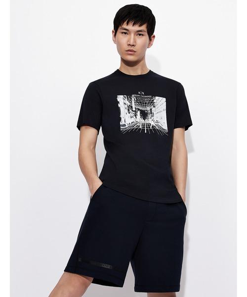 【A|Xアルマーニ エクスチェンジ】グラフィックデザイン 半袖クルーネックTシャツ/REGULAR