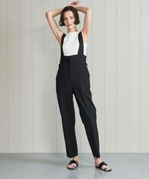 <H>HIGH WAIST OVERALLS/サロペット