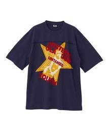 UNTAMED YOUTH DIARY オーバーサイズTシャツネイビー