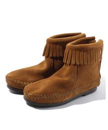 Minnetonka(ミネトンカ)のMINNETONKA:フリンジ ブーツ(14〜20cm)(ブーツ)
