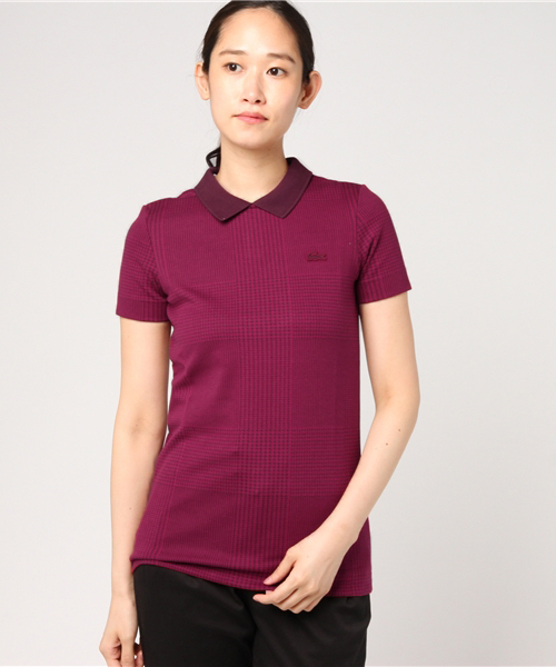 cc4eb7a61257 LACOSTE(ラコステ)の「バックオープニングスリムフィットポロシャツ (半袖)(ポロシャツ