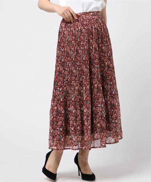 【Ray掲載】ボタニカルベリープリーツスカート