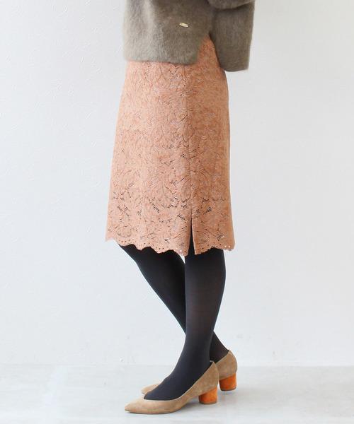 【サイズ交換OK】 【セール】ローラレースフロッキータイトスカート(スカート) Jines(ジネス)のファッション通販, 阿寒湖 きりり:91b0d504 --- apiceconstrutora.com.br