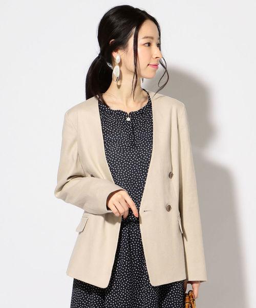 直営店に限定 【セール】ノーカラーダブルジャケット(ノーカラージャケット) for フォー セール,SALE,SHIPS|SHIPS(シップス)のファッション通販, Leather Item Shop Lunatic White:a81bd045 --- panvelflatsforsale.com