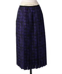 Drawer ニュアンスプリントプリーツスカート