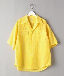 <KAPTAIN SUNSHINE>オープンカラーショートスリーブシャツ -ウォッシャブル-