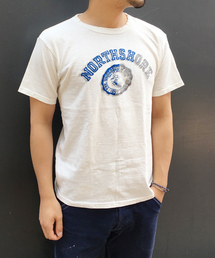 GREEN BOWL(グリーンボウル)のGREEN BOWL Flocky Print Short Sleeve T-shirts / グリーンボウルフロッキープリントショートスリーブTシャツ(Tシャツ/カットソー)