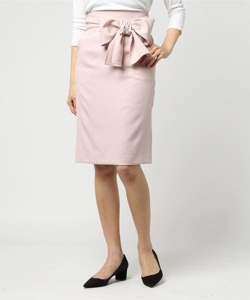 【Ray掲載】ウエストリボンIラインスカート
