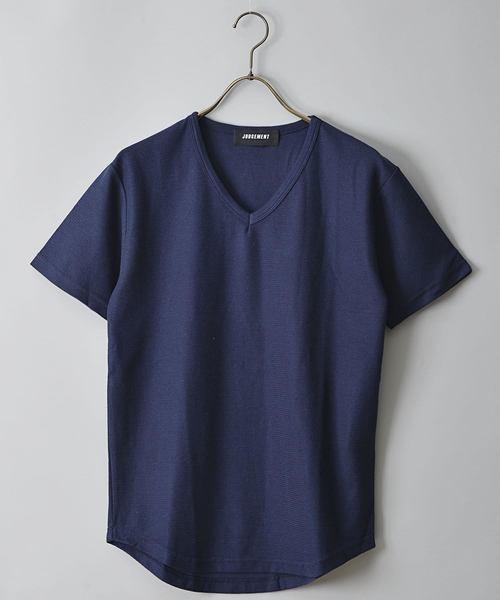 JUDGMENT 二重織VネックTシャツ