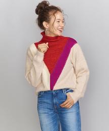 <OSKER>COLORBLOCK セーター