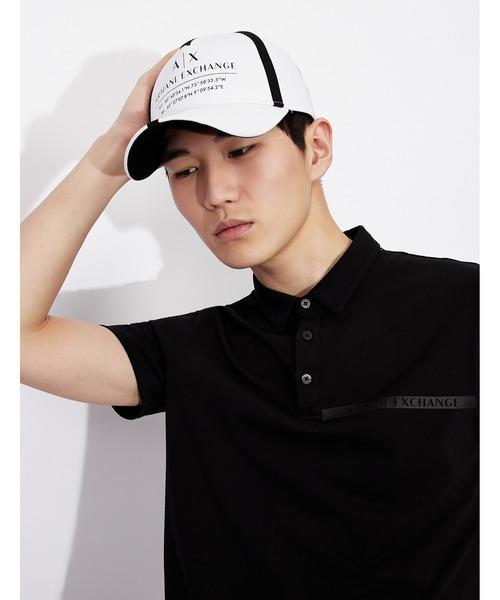 【A Xアルマーニ エクスチェンジ】A Xロゴ&テープデザイン パネルキャップ
