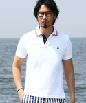 The DUFFER of ST.GEORGE | DUFFER×PSYCHO BUNNY DOTS/FLOWER POLO:サイコバニーポロシャツ(ポロシャツ)