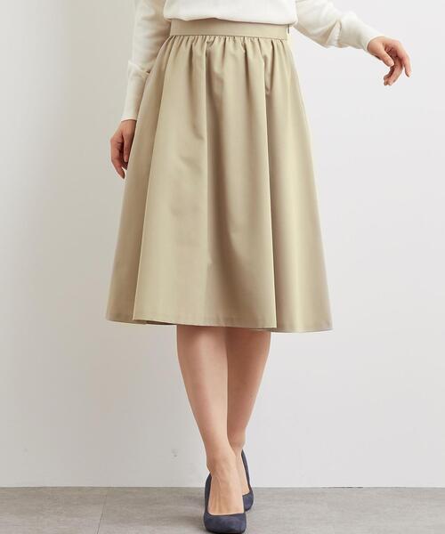 CS グログラン フレア ギャザー スカート