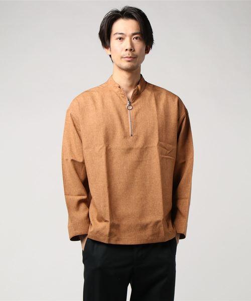 ハーフジップシャツ