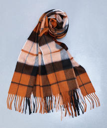 <JOHNSTONS>CASHMERE CHECK STOLE/ストール