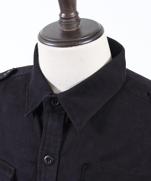 ms3566-パウダースノーツイルミリタリーシャツ