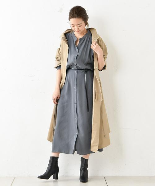 人気商品 ロングジップコート(ステンカラーコート) DouDou(ドゥドゥ)のファッション通販, ツリーワールド:358de81a --- blog.buypower.ng