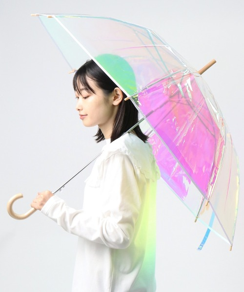 【 Amvel / アンベル 】 オーロラ ビニール傘 / オーロラ傘 Aurora Vinyl Umbrella AMI A2106LF