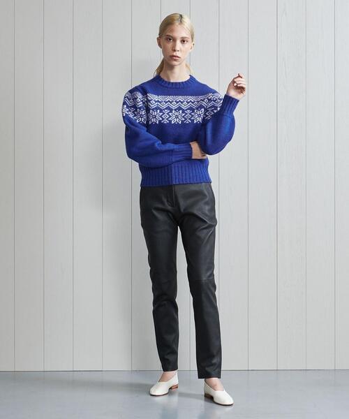 <H>LEATHER SLIM PANTS/パンツ