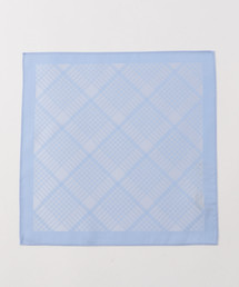 MEN'S MELROSE(メンズメルローズ)のシャドーチェックポケットチーフ(バンダナ/スカーフ)