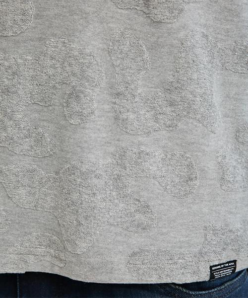 シャドーカモパイル半袖クル-ネックT