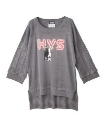 HYS CATチェーン刺繍 プルオーバーグレー