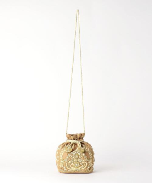 [ 別注 ][ サルージャ エキスポーツ ] SALUJA EXPORTS D BEADED キンチャク バッグ
