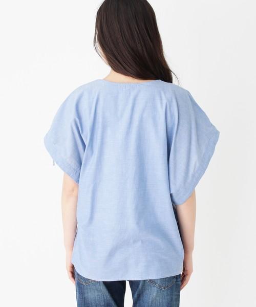 【2点セット】袖ドロストシャツ+タンクトップ